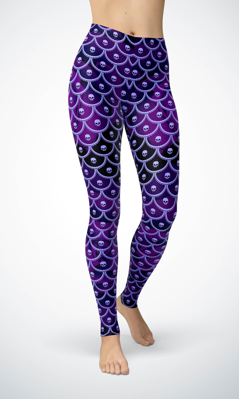 134421c855f618 Sale! Shop / Leggings / Skully Scales Women's Skull Lace Mermaid ...