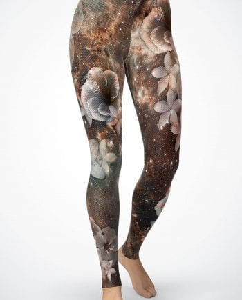 floral galaxy leggings