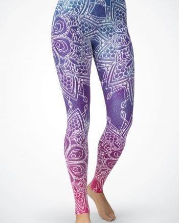 d0428c855fda48 Women's Hombre Velvet-look Mandala leggings – Yoga Leggings/ Yoga Pants