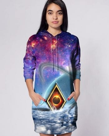 space art hoodie dress