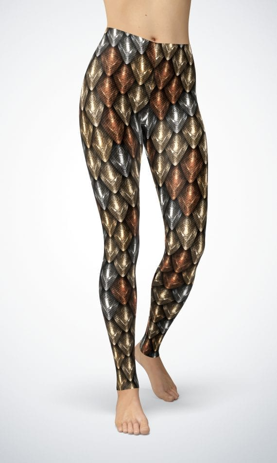 shiny dragon scale leggings