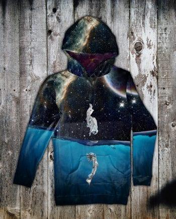 galaxy hoodie dress