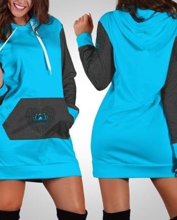 22dcd22efdf2 Lotus Love Blue Hoodie Dress